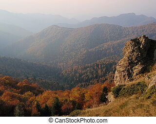 Balkan - The Balkan mountain (Stara Planina) in autumn