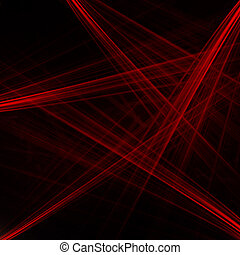 balken, abstract, laser, rode achtergrond