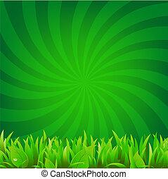 balken, gras, groene