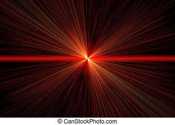 balken, laser, rood
