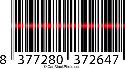 balken, vektor, laser, barcode