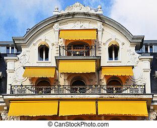 balkong, av, a, lyxvara, hotell