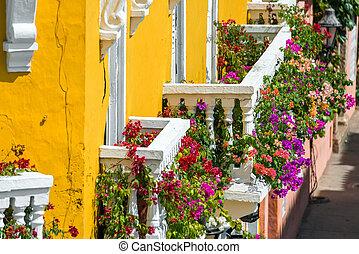 balkons, kleurrijke