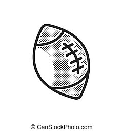 Ball American Football icon dotted style