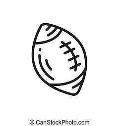Ball American Football icon line style