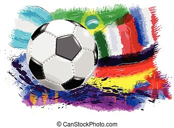 ball and flags