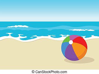 Ball at the beach