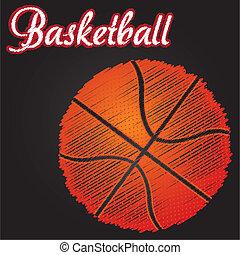 ball basketball drawing