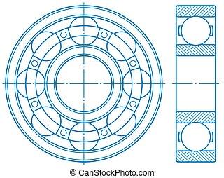 Ball bearing contour design