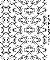 Ball bearing contour design pattern