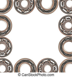 ball bearing, isolated on white background