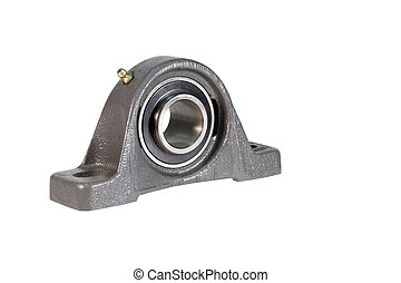 ball bearing isolated over white with clipping path -...