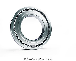 ball bearing on white background