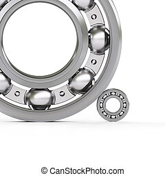 Ball bearings isolated on white - Ball bearings close-up...