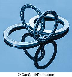 ball bearings blue toning idea