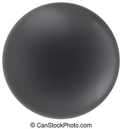 Ball black sphere round button matted basic circle empty