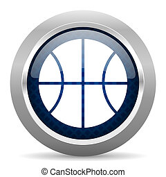 ball blue circle glossy web icon on white background, round button for internet and mobile app