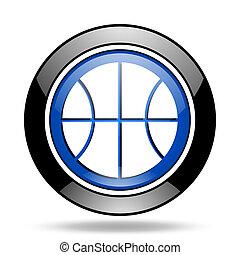 ball blue glossy icon