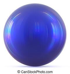Ball blue sphere round button basic circle geometric shape