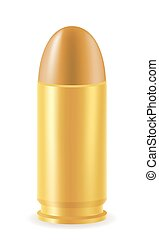 ball cartridge with a bullet vector illustration