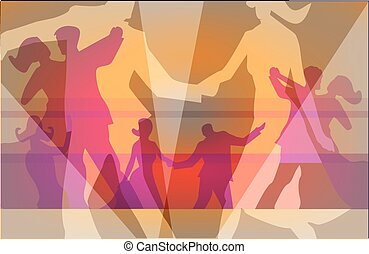 Ball dancing background