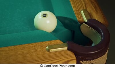 Ball do not get in the pocket. - Russian billiards, ball do...