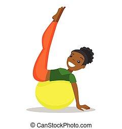 ball., femme, exercisme, crise, african-american