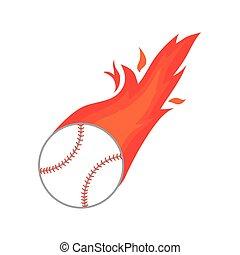 ball fire baseball icon isolated