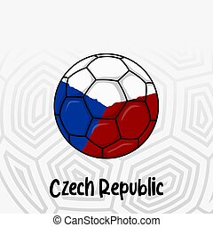 Ball Flag of Czech Republic