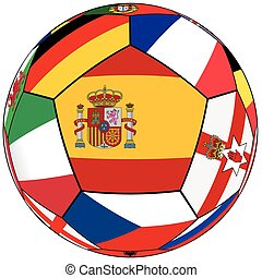 Ball - flag of Spain in the center