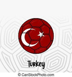 Ball Flag of Turkey