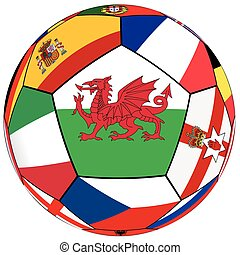 Ball - flag of Wales in the center