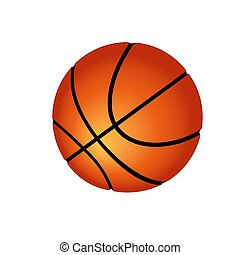 Ball for playing basketball. Vector illustration. Isolated on white background
