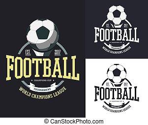Ball for soccer or football for team t-shirt