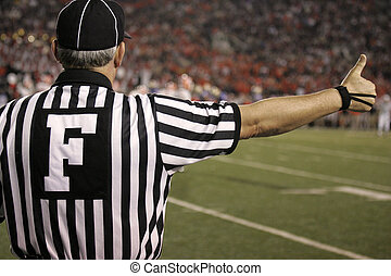 Ball Game Ref - Football game with referee