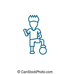 Ball games linear icon concept. Ball games line vector sign, symbol, illustration.