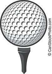 Ball golf vector isolated on white background