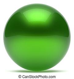 Ball green sphere geometric shape round button basic circle