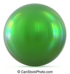 Ball green sphere round button basic circle geometric shape