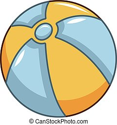 Ball icon, cartoon style