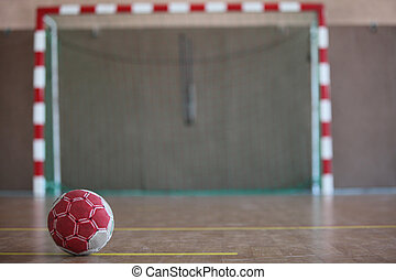 ball in front of goal