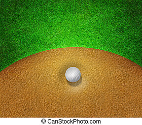 Ball in Sand Golf Background