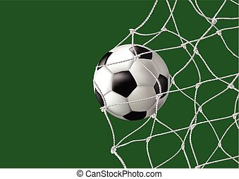 Ball in the net - goal - Vector illustration of football...