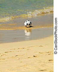 Ball in the sand
