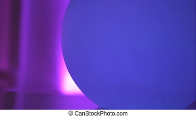 Ball light lamp in the club