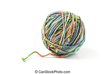 Ball of colored threads