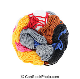 ball of colorful thread
