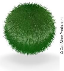 Ball of Green Short Grass