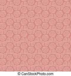 Ball of knitting yarn tone on tone seamless pattern