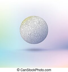 Ball of letters. - Ball of letters on colored background....